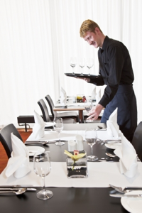 Restaurant Server Interview - serving