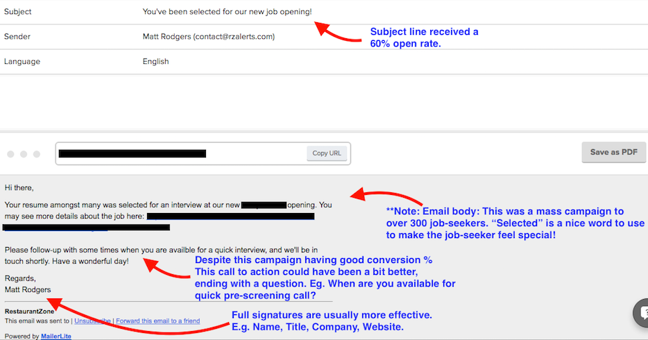 Job Seeker Email Template Sample Trim