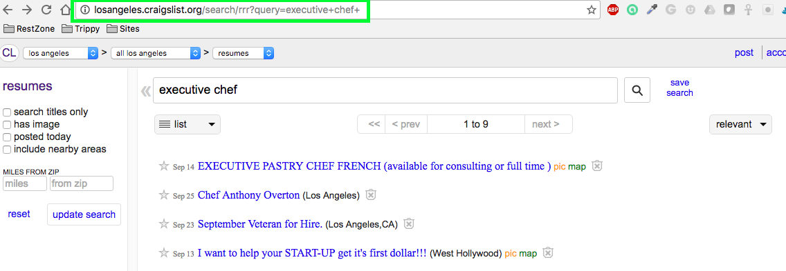How to Create Resume Alerts on Craigslist - The Restaurant Zone
