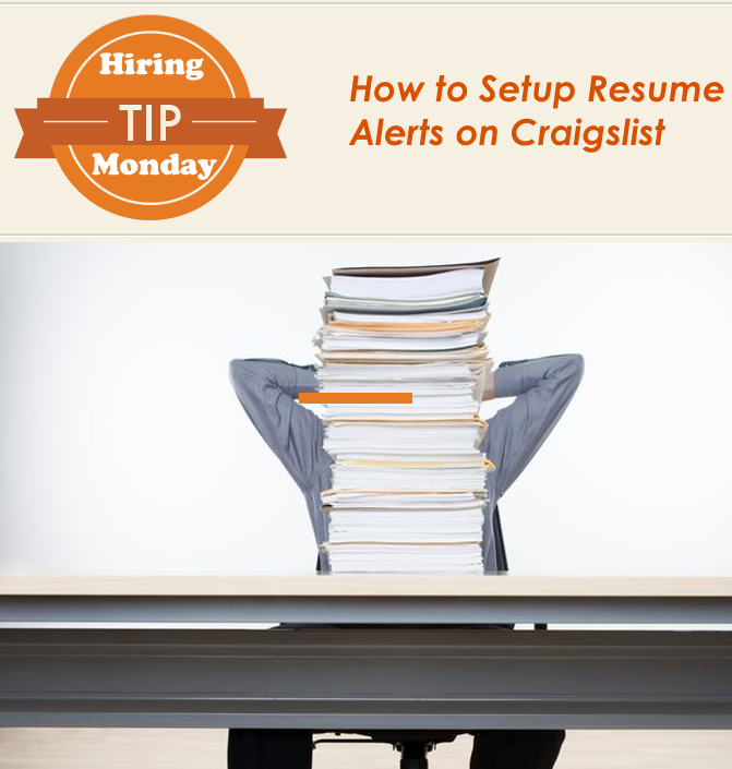 how to create resume alerts on craigslist the restaurant zone